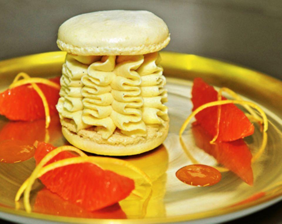 Macarons mit Vanilleeis