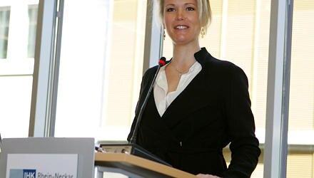 Äußerst stark und gelassen wirkte Stephanie zu Guttenberg bei ihrem Vortrag in der Industrie- und Handelskammer Rhein-Neckar. Th