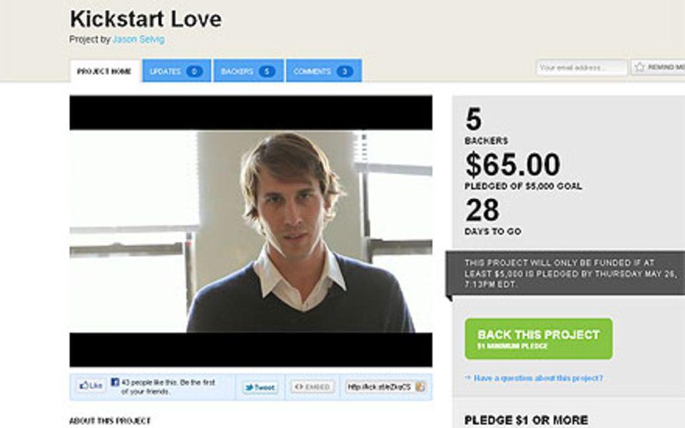 Jason Selvig ruft in seinem Video zu Spenden auf.