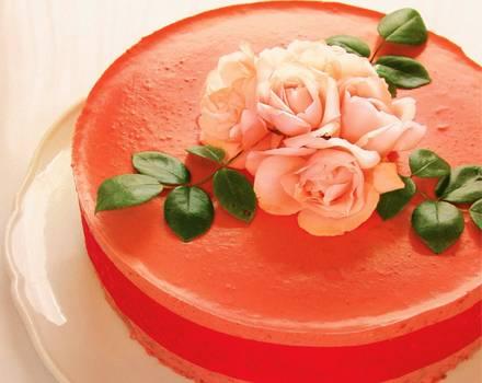 Ein Traum in Rosa, die Rosentorte