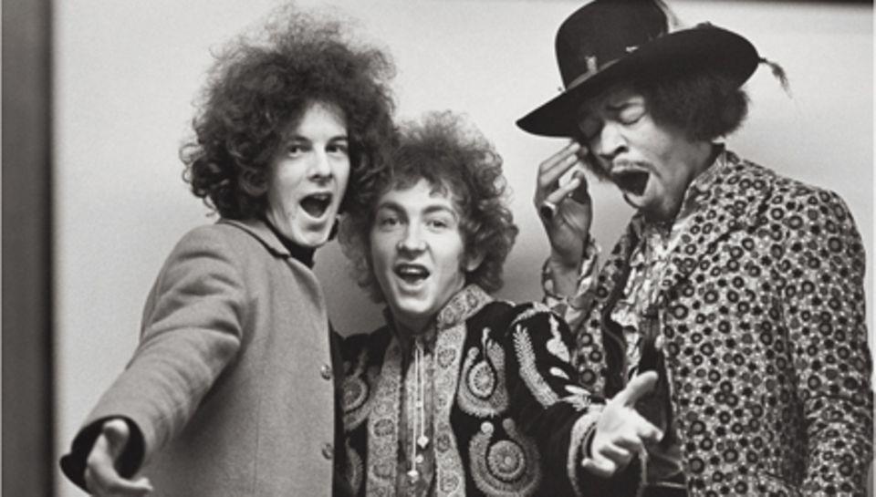 Jimi Hendrix posierte diverse Male für Linda McCartney. Hier gähnt er 1967 in London in die Kamera.