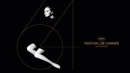 Faye Dunaway im Alter von 29 Jahren auf dem offiziellen Plakat des Filmfestivals in Cannes 2011.