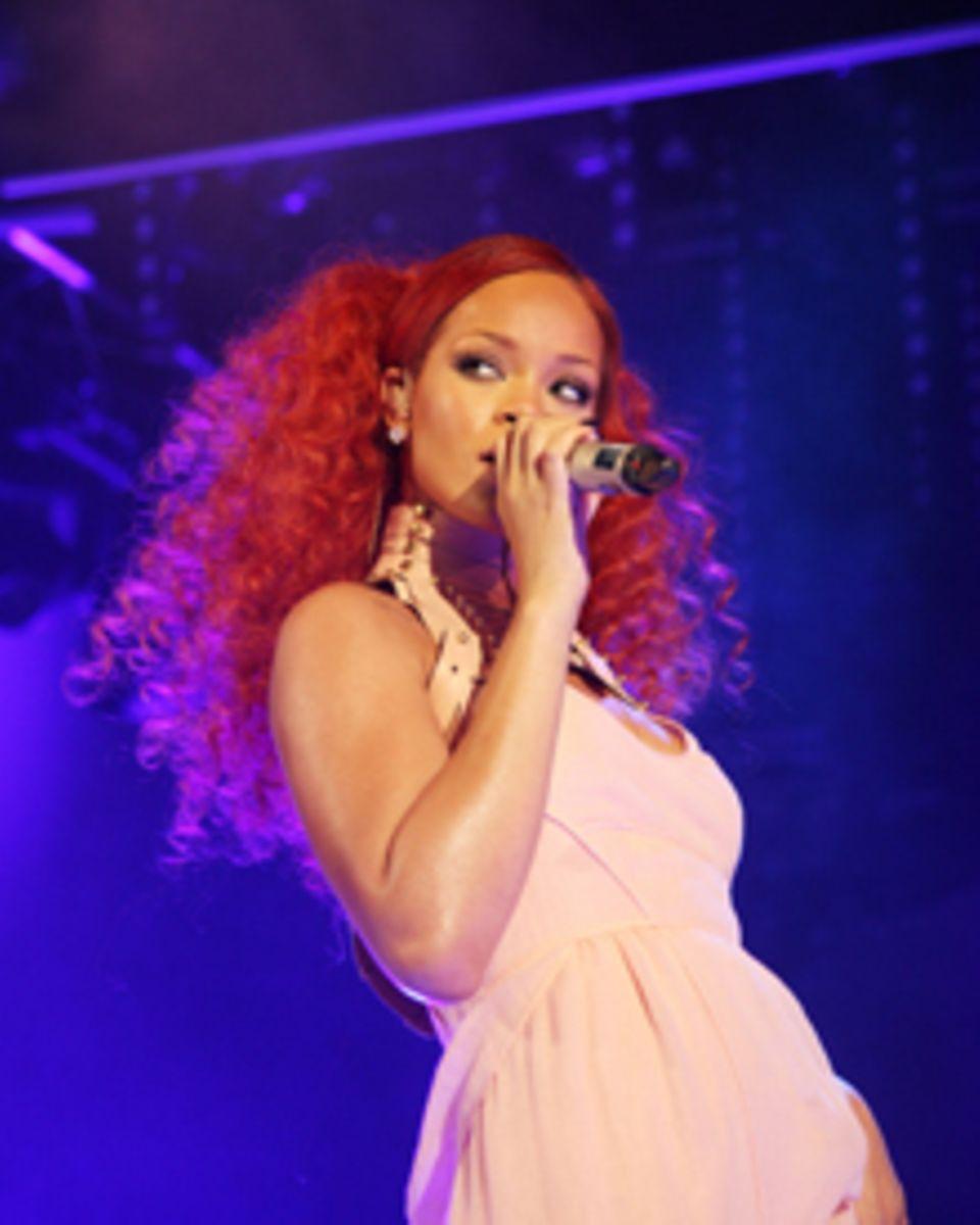 Rihanna begeisterte stimmlich auf der Jubiläumsfeier.