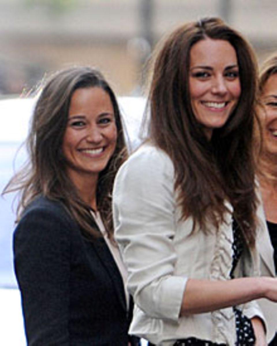 Starkes Doppel: Pippa Middleton scheint die allgemeine Aufmerksamkeit mehr zu genießen als ihre zurückhaltendere Schwester Kate.