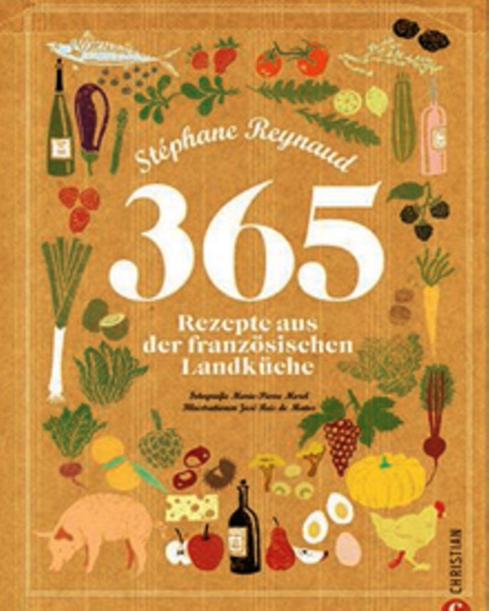 Spitzenkoch Stéphane Reynaud präsentiert 365 Rezepte der Grande Nation. Mal Deftiges aus der Bretagne, mal süßes aus dem Burgund