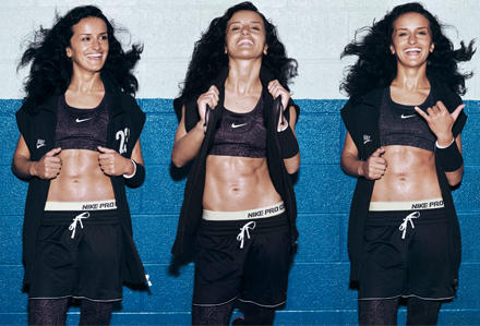 Auf den Nike-Kampagnenbildern zeigt sich Lira Bajramaj  durchtrainiert und sexy