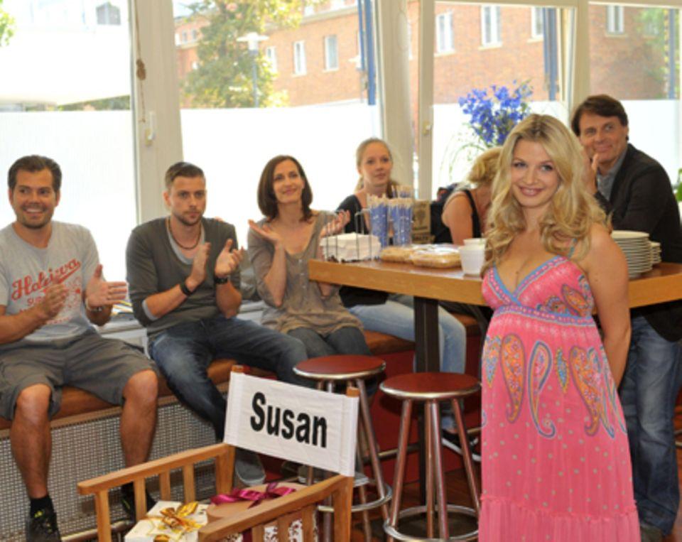Mit ihren Kollegen Daniel Fehlow, Felix von Jascheroff, Ulrike Frank udn Wolfgang Bahro (von links nach rechts) feierte Susan Si