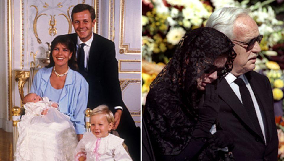 Ein Bild aus glücklichen Zeiten zeigt Prinzessin Caroline mit ihrem Mann Stefano Casiraghi. Er starb im Oktober 1990, Caroline w