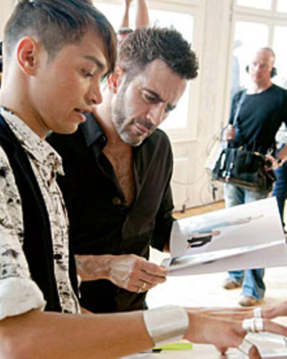 Zwei Tage nahm sich Marc Jacobs Zeit, um die Jungdesigner (hier Jonathan Christoper Hofwegen) in Berlin kennenzulernen.