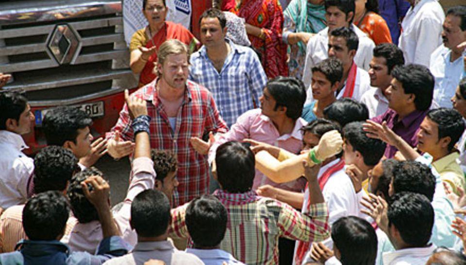 """Im Sat.1-Film """"Mein indisches Dorf"""" spielt Baum einen Trucker, der sich gegen die Machenschaften von Spekulanten einsetzt. Sende"""