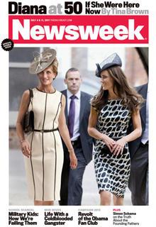 """Auf dem Cover der """"Newsweek"""" erntet Prinzessin Diana bewundernde Blicke von ihrer Schwiegertochter Kate, Herzogin von Cambridge."""