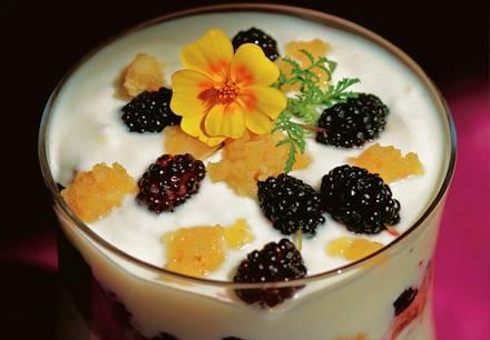Schichtjoghurt mit Maulbeeren
