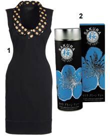1. Schwarz und sexy: Kleid von Giles, über www.thecorner. com, ca. 835 Euro; 2. Entspannte Zeremonie mit grünem Tee von Mariage