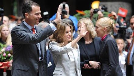 Prinz Felipe und Prinzessin Letizia bei ihrem Kurzbesuch in Hamburg.