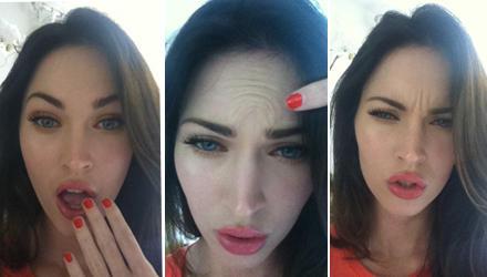Megan Fox und ihr Botox-Gegenbeweis: Die ubertriebene Mimik stützt diesen allerdings nicht so überzeugend.