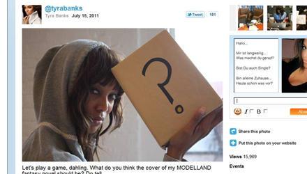 Tyra Banks bat ihre Fans via Twitter, ihr einen Titel für ihr Buch vorzuschlagen.