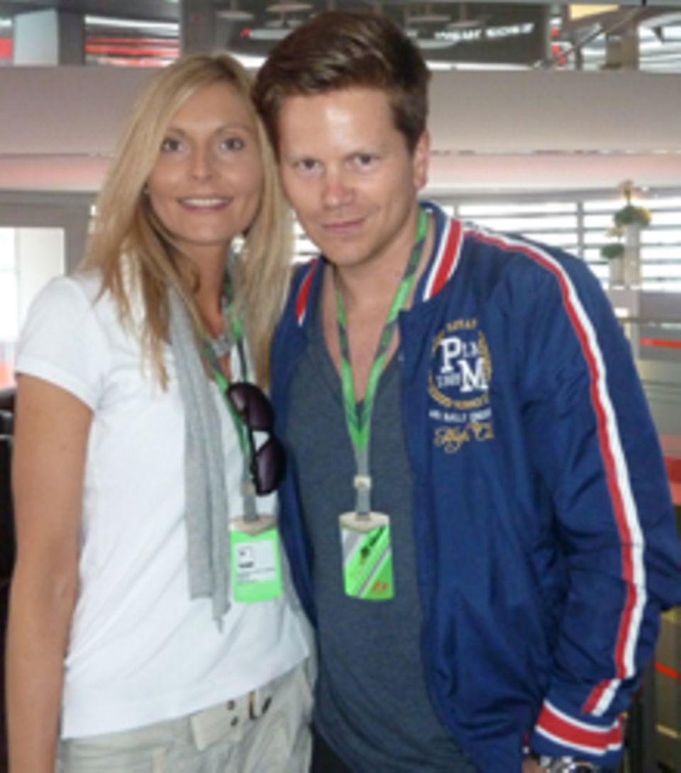 Nadine Warnsing und Christian Linssen durften sich unter die Formel1-Profis mischen.