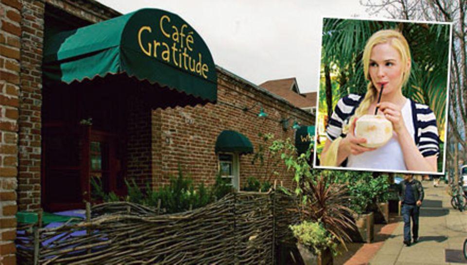 """Ja, ich bin ein Rohling. Hotspot der Raw-Foodisten ist das """"Café Gratitude""""."""