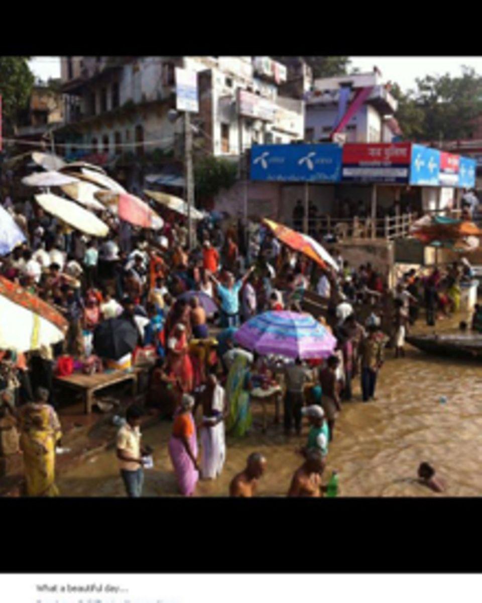 Auf ihrem Facebook-Account postete Heidi Klum Fotos von ihrer Indien-Reise.