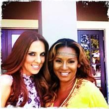 """Besuch bei Melanie: """"In L. A. habe ich bei Mel vorbeigeschaut. Ich versuche immer, meine Spice Girls zu sehen, wenn ich drüben b"""