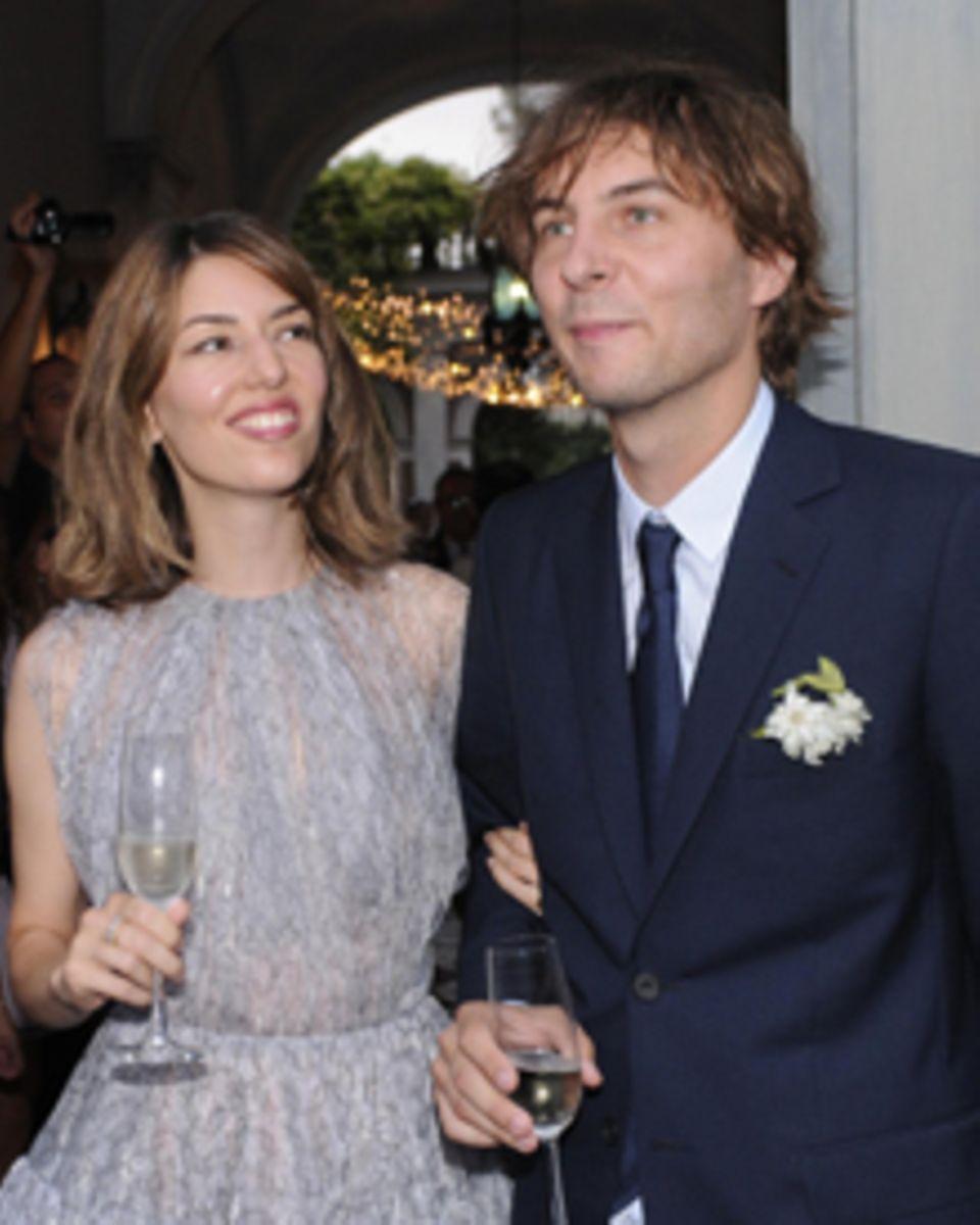 Sofia Coppola und Thomas Mars nach ihrer Eheschliessung