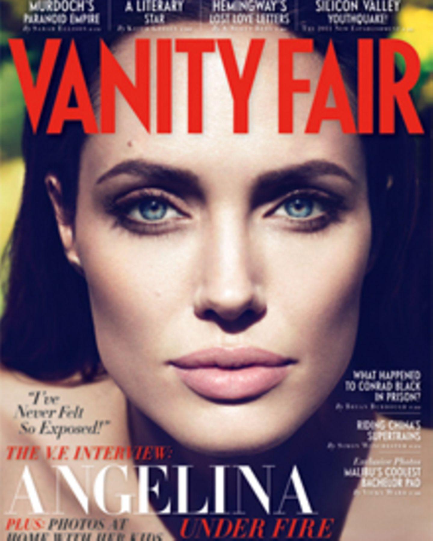 """Angelina Jolie auf dem Cover der aktuellen Ausgabe der """"Vanity Fair""""."""