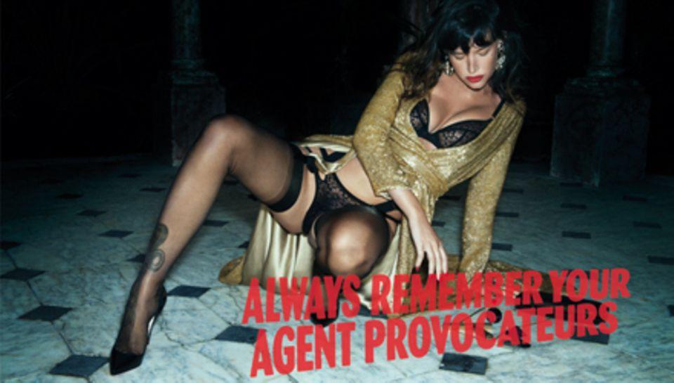 Paz de la Huerta lässt für Agent Provocateur tief blicken.