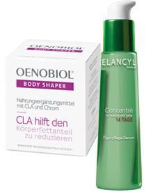 """Die """"Body Shaper""""-Nahrungsergänzung von Oenobiol macht das Abnehmen um die Hüften leichter. 60 Kapseln, ca. 23 Euro, exklusiv in"""