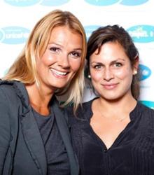 Franziska van Almsick und Shila Meyer-Behjat von Gala.de