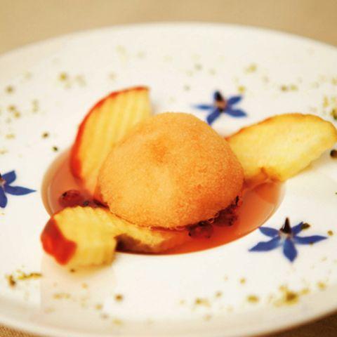 Apfelweinsorbet