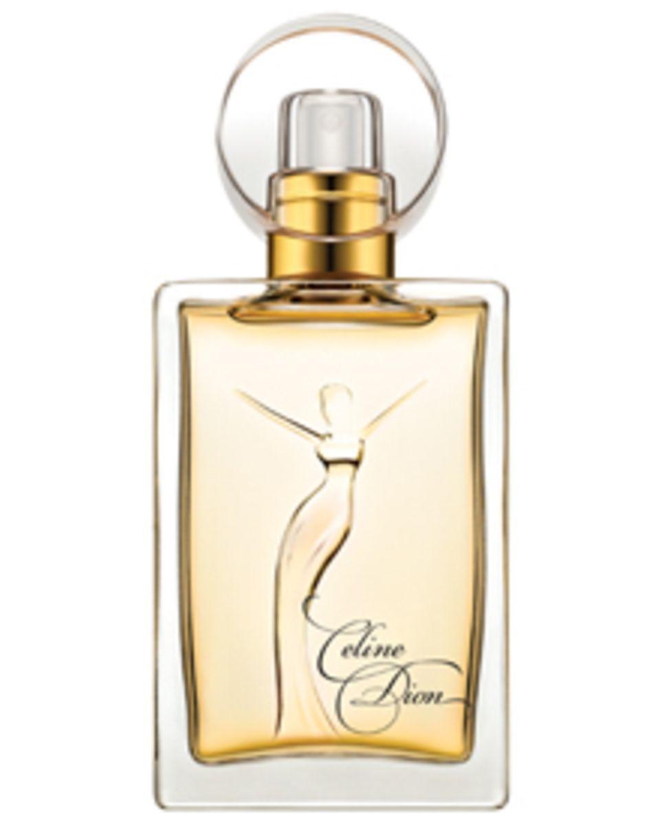 """Auf dem Flakon des neuen Parfüms """"Signature"""" ist die Silhouette von Celine Dion eingraviert."""