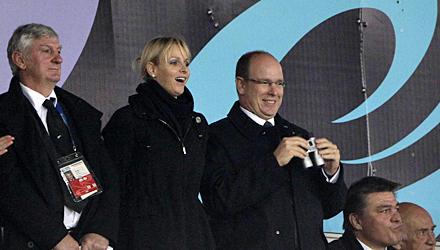 """Sport als """"gemeinsamer Nenner"""": Auf der Tribüne bei der Rugby-Weltmeisterschaft in Neuseeland amüsierten sich Fürstin Charlène u"""