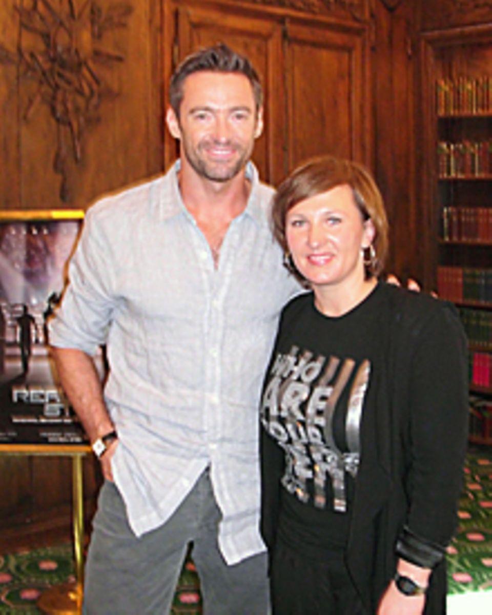 GALA-Redakteurin Sandra Reitz traf Hugh Jackman in München.