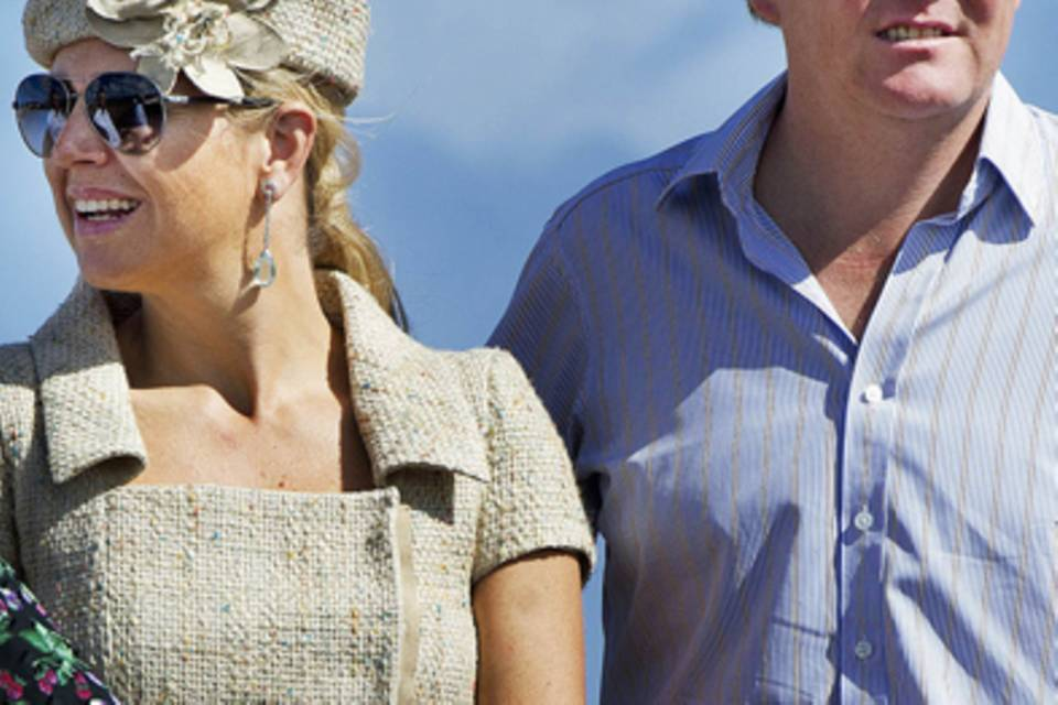 Kronprinz Willem-Alexander und seine Frau Máxima