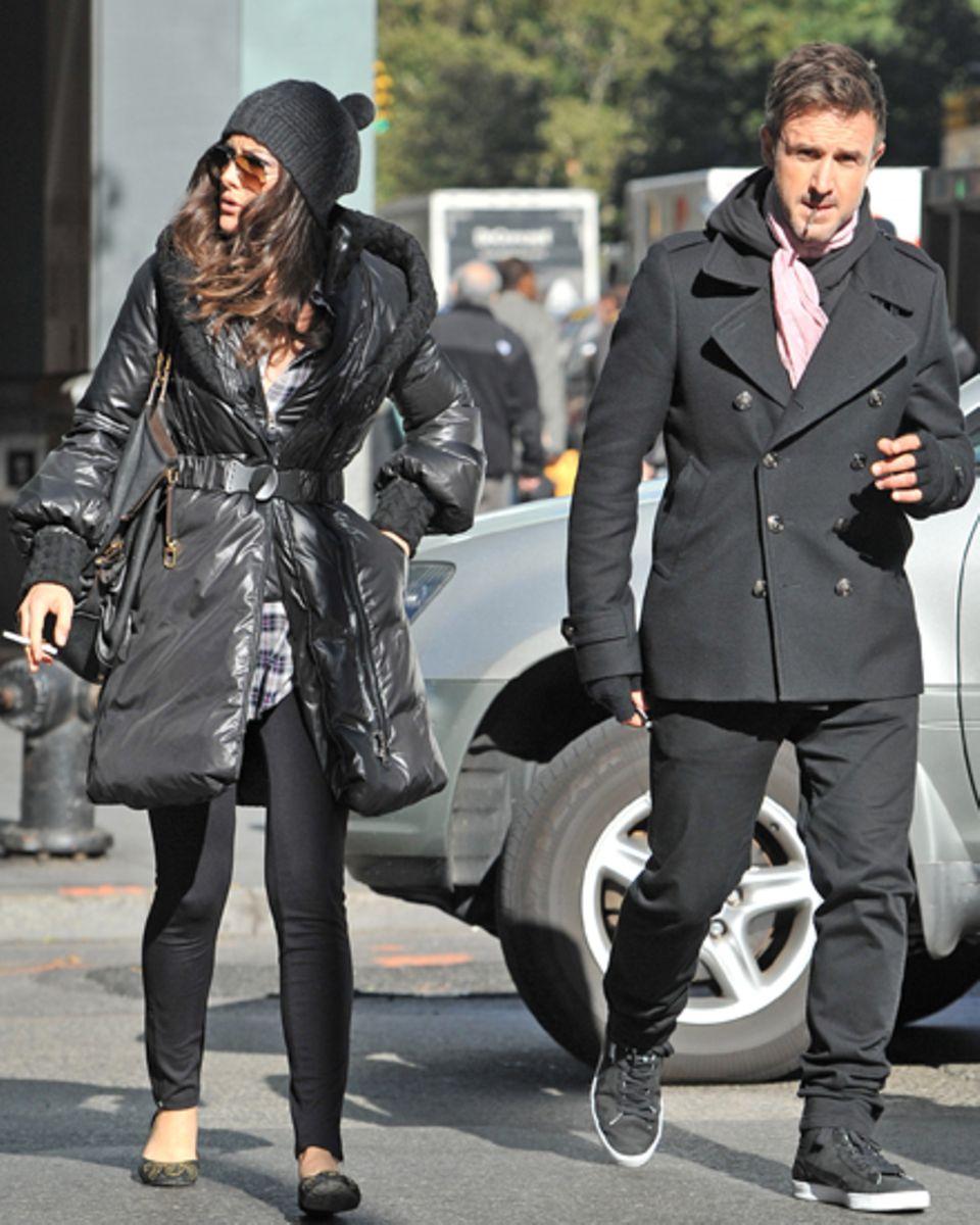 David Arquette und seine Freundin Christina McLarty sind gemeinsam in New York unterwegs.