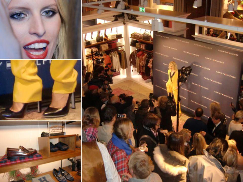 Topmodel Karolina Kurkova bringt Gute-Laune-Glamour zur Shoperöffnung mit. Und eine gute Portion Traition: die Penny-Loafers im