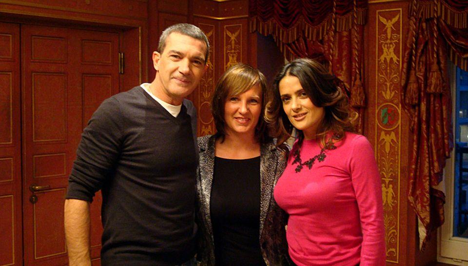 GALA-Redakteurin Sandra Reitz sprach mit Antonio Banderas und Salma Hayek in Berlin.