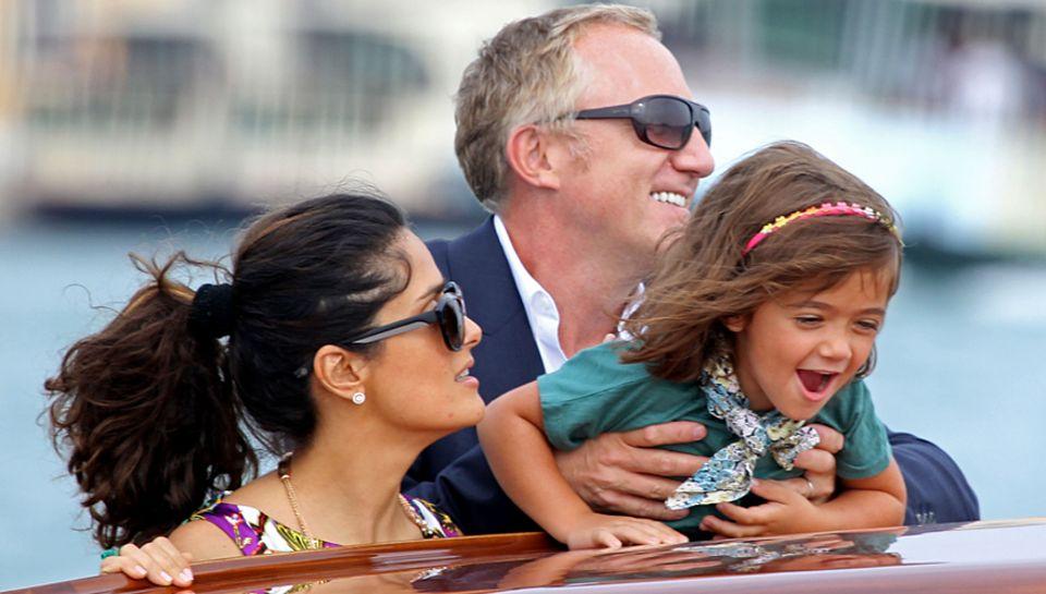 Stilles Glück: Mit dem französischen Multimilliardär François-Henri Pinault ist Salma Hayek seit knapp drei Jahren verheiratet.