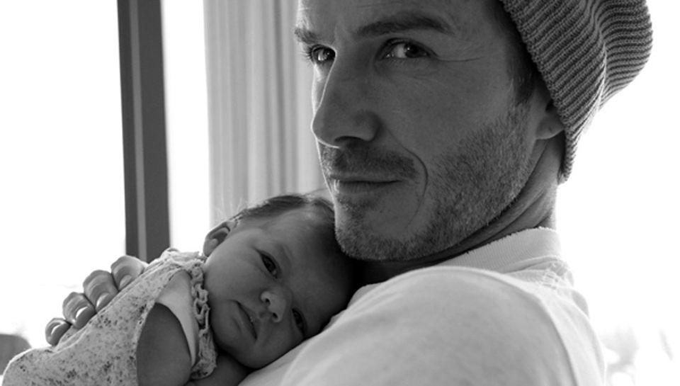 Kleines großes Glück für die Beckhams! David, 36, mit Harper.