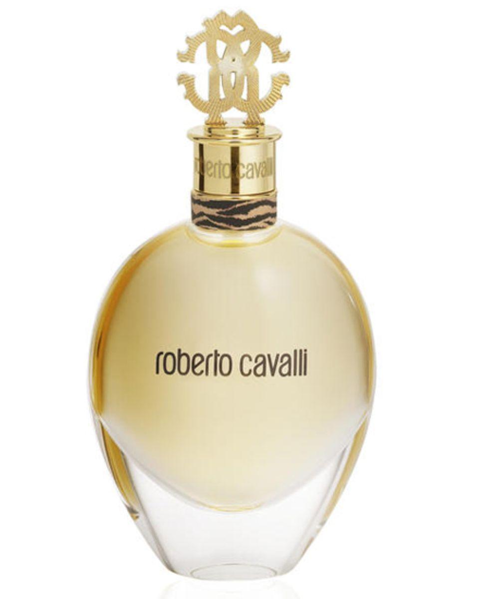 """Das Parfum """"Roberto Cavalli"""" mit Ambra und Orangenblüte passt zum femininen Cavalli-look. EdP, 50 ml, ca. 62 Euro"""