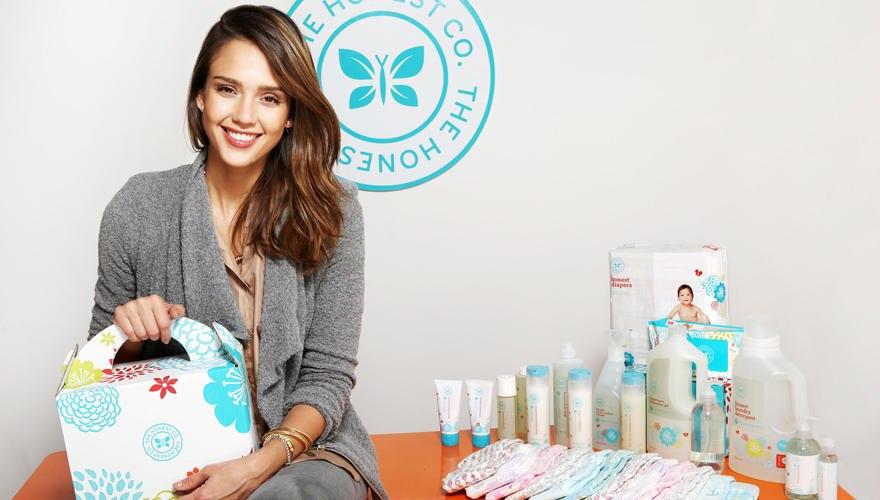 Jessica Alba präsentiert ihre neue Produktlinie für Babys.