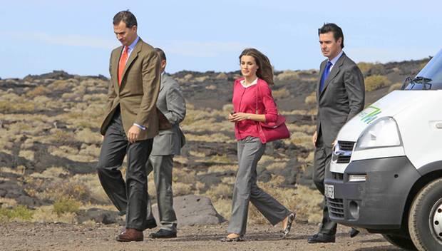 Felipe und Letizia haben den Bewohnern der Kanaren-Insel El Hierro einen Besuch abgestattet.