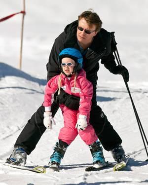 Zaria und Papa Johan Friso beim Skifahren vor einem Jahr