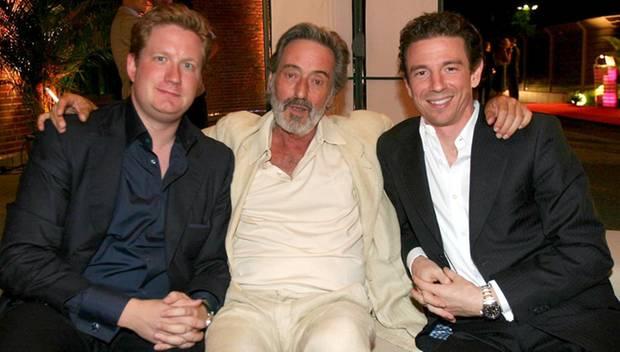 2005 suchte Groenewold bei einem Medientreff im Berliner E-Werk die Nähe zu Regisseur Helmut Dietl (M.) und Produzent Oliver Ber