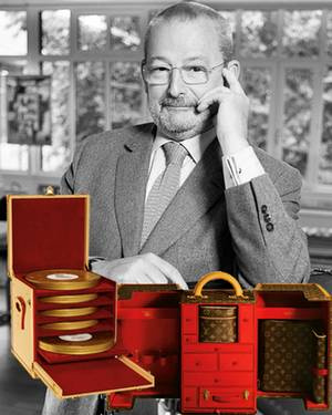 Patrick Vuitton ist im Unternehmen für Sonderanfertigungen - etwa Filmrollen-Koffer - verantwortlich. Mit Sharon Stone entwarf e