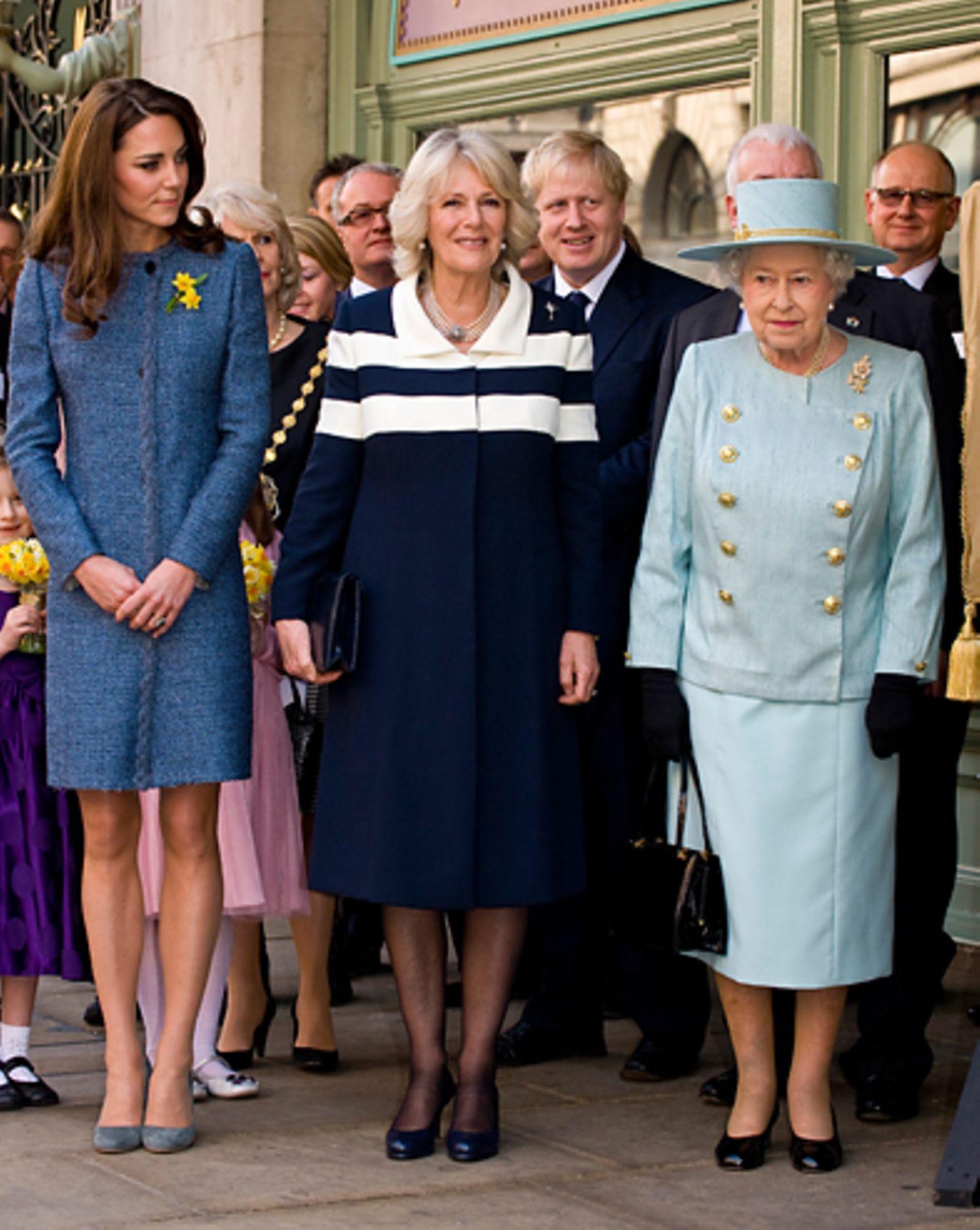 Queen Elizabeth, Herzogin Catherine, Camilla