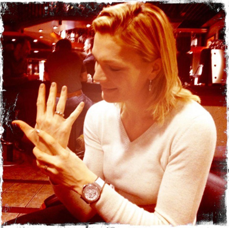 Seit April 2011 ist Maria Riesch mit ihrem heute 38-jährigen Manager Marcus Höfl verheiratet.