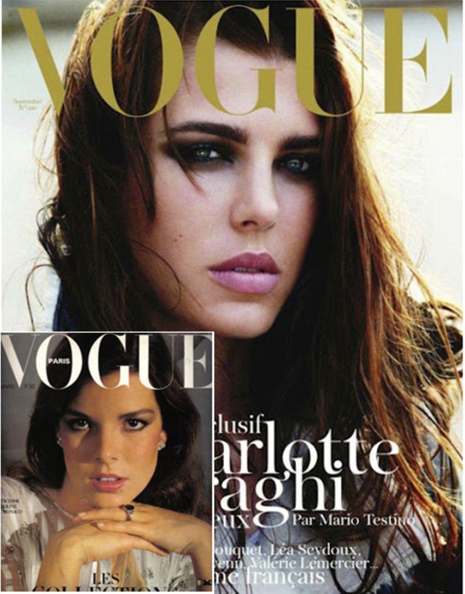 """Frappierende Ähnlichkeit: Charlotte war im September 2011 auf dem Cover der französischen """"Vogue"""" zu sehen, ihre Mutter Prinzess"""