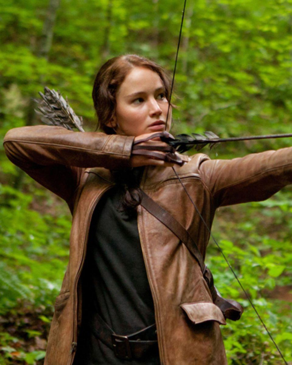 """Kämpft um ihr Überleben: Jennifer Lawrence als """"Katniss Everdeen""""."""