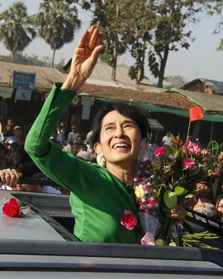 Weder Hausarrest noch die Trennung von ihrer Familie konnten Aung San Suu Kyi, 66, von ihrer Mission abbringen:Frieden und Demok